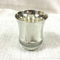 Christofle Silver Plated Cup Beaker Guilloche Engraving Pascal French Art Deco