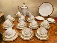 Vintage 10 Cups 10 Saucers German Bavaria Schumann Porcelain Coffee Set