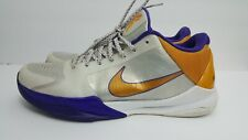 official photos eb5d2 12bfe Nike Zoom Kobe V 5 Home Sz 13 White Del Sol Purple Yellow 386429-102