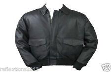 Men's Bomber Flight Pilot Leather Jacket Sheep Lamb Rider Motorbike Jacket