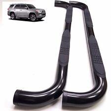 """Side Step Nerf Bar For 10-16 Toyota 4Runner Limited 10-13 SR Black 3"""" Round Bars"""