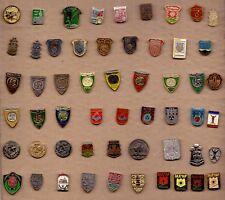 55  pins pin badge Coat of Arms City towns crests  heraldic SERBIA Srbija