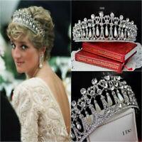 Crystal Tiara Pearl Headband Rhinestone Wedding Bridal Crown Hair Accessories