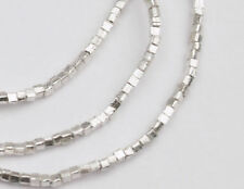 Karen Hill Tribe Silver 250 Little Cube Beads 1mm. 13 inches