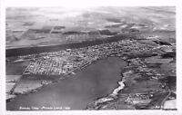 1940s Aerial View Moses Lake Washington RPPC real photo postcard 5490