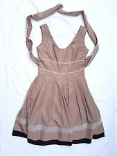 AS NEW Target Size 12 Dress City Office Corporate Tan Sleeveless Petticoat Chic