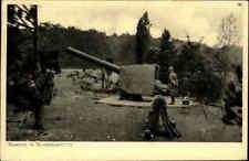Das Deutsche Heer 1. Weltkrieg Kanone in Schirmlafette, gelaufen Stempel Leipzig