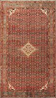 Vintage Geometric Traditional Area Rug Hand-Knotted WOOL Oriental Carpet 7'x11'
