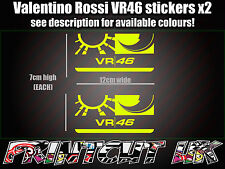 Valentino Rossi VR 46 Label Sticker Decal ALL COLOURS AVAILABLE Moto GP Racing C