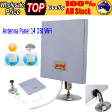 AU Antenna Panel 2.4 GHZ 14 DBI High Gain WiFi Wlan SMA Directional Long Range T