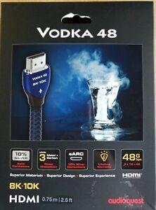 AudioQuest Vodka 48 8K-10K .75m(2.5') HDMI Cable - Blue