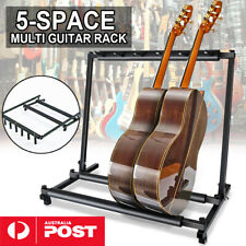 Stylish Guitar Stand Metal Padded Foam Tidy Storage Display Rack Fits 5 Guitars
