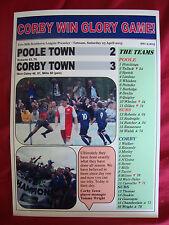 Poole Town 2 Corby Town 3 - Corby champions - 2015 - souvenir print