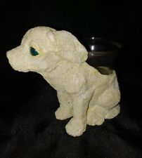 vintage tea light dog candle holder