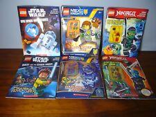 6 LEGO Ninjago Star Wars NEXO Lot Activity Book Mini figs New Minifigures