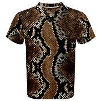 Python Snake Skin Sublimated Men's Sport Mesh tee t shirt Size S-3XL