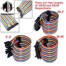 40pcs Dupont Wire Jumper Cable 254mm 1p 1p Male To Female 10cm20cm30cm