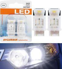Sylvania LED Light 3157 White 6000K Two Bulbs Rear Turn Signal Replace Upgrade
