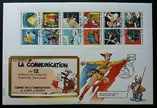 France Cartoons Postal Service 1988 Hero Cartoon Mail Deliver (booklet FDC *rare