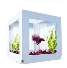 Mini Square Arcylic Fish Tank Water Aquarium Home Desk Office Decorations