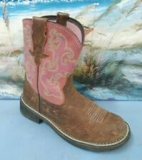 ARIAT BOOTS 10010808 MODEL SIZE 7 B WOMENS WESTERN PINK/BROWN BOOT