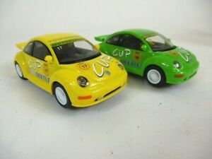 2 No. Scalextric Beetle Cup Racing Cars