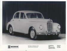 Morris Six Saloon 1948, 60 years retrospective b&w Press Photo Pub. by BL 231996