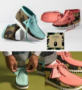 A BATHING APE Men's Footwear CLARKS ORIGINALS WALLABEE BOOTS Clarks UK sizing