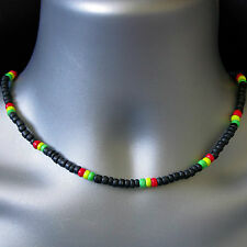 Mens Boys Surfer Tribal Beach Coco Beads Necklace Choker