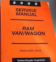 2000 DODGE RAM VAN WAGON Service Repair Workshop Shop Manual OEM