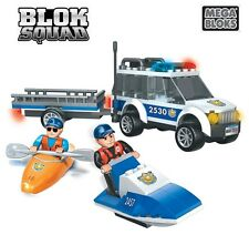Mega Bloks Blok Squad Police Beach Patrol 2421 - 183 Pcs, Compatible with Other