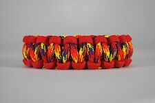 550 Paracord Survival Bracelet Cobra Red/Phoenix Sunrise Camping Tactical