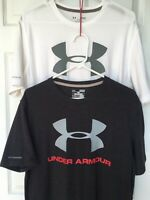 TWO UNDER ARMOUR Men's 'UA SPORTSTYLE LOGO' T-Shirts - Medium