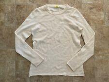 J Crew DIVINA Ivory 100% CASHMERE Crew Neck Sweater - M / L