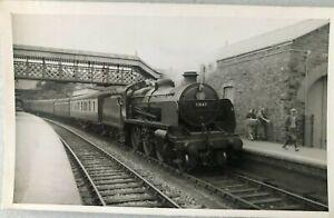 Black & White Photo Postcard Steam Loco N Class 2-6-0 31847 Dulverton