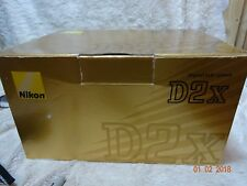 boxed Nikon D2X Digital SLR Camera Body Battery  + instructions + charger also
