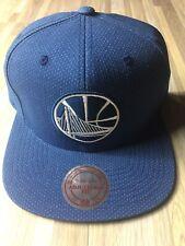 Mitchell & Ness Golden State Warriors Pin Dot Denim Hat Snapback Blue NWT