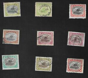 Papua New Guinea Lakatoi Stamps Port Moresby & Samarai Postmarks Fine Used