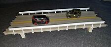 Tyco US1 Electric Trucking 4 lane bridge gray  slot car track
