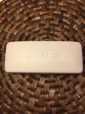 Versace White Leather Sunglasses Case In Mint Condition