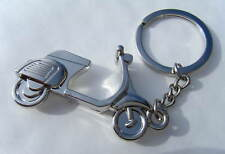 Chrome Scooter Keyring Chrome Metal Scooter Keychain Gift Boxed