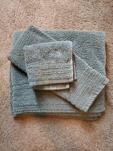 "3-Pc Hotel Collection Ultimate MicroCotton 30x54"" Bath, Hand & Wash Towel Aegean"