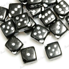 45pcs Mixed Acrylic Beads Black Red Dice Jewelry Cube 6x6x6mm