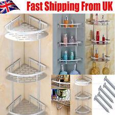 3 Tier Aluminum Bathroom Corner Shower Shelf Rack Organiser Caddy Shampoo Basket