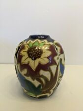 Vintage Gouda Style Pottery Vase With Sunflower Pattern Made In Japan