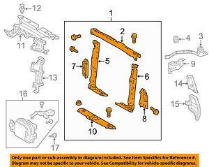 TOYOTA OEM 2015 RAV4-Radiator Support 5320542090