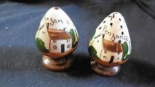 "Torquay Pottery - Motto Ware - ""Cottage""  salt & pepper"
