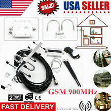 US Cell Phone Mobile Signal Booster 110V Amplifier Repeater GSM 900MHz Dual-port