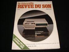 LA NOUVELLE REVUE DU SON<>MARCH 1983<>FRENCH AUDIO MAG.°#66°SUGDEN A28