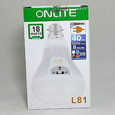 18WATT 40 LED/SMD RECHARGEABLE EMERGENCY LIGHT BULB TORCH
